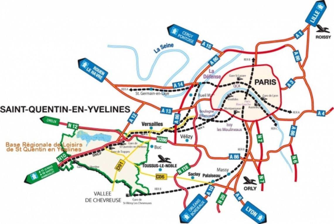 Circuler à Saint Quentin en Yvelines