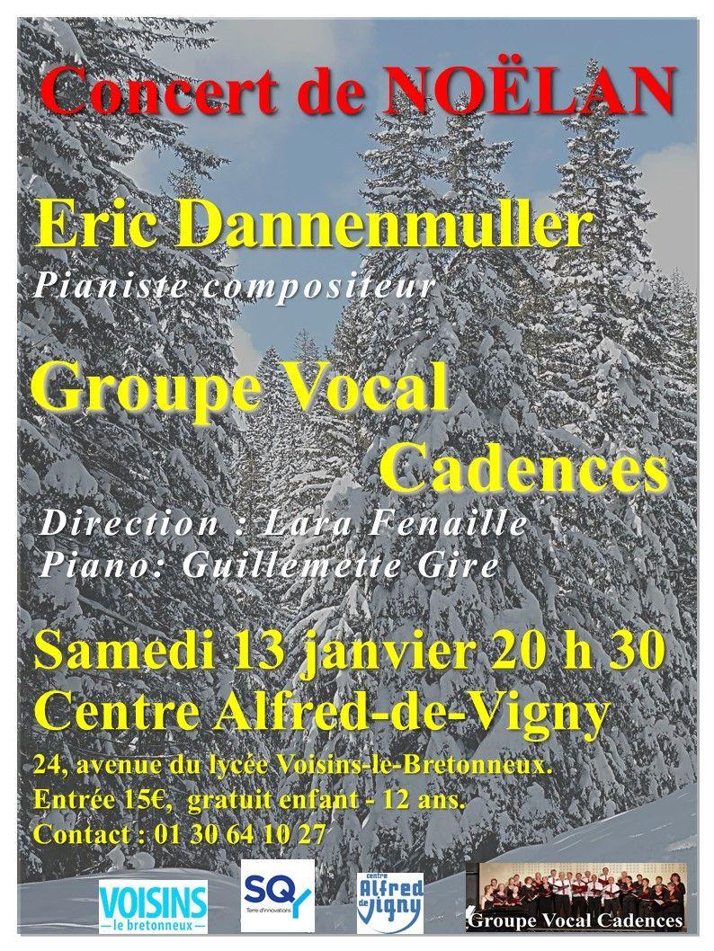 Rendez-vous samedi 13 janvier 2018 chez Alfred de Vigny pour écouter le Groupe Vocal Cadences et le pianiste compositeur Eric Dannenmüller. A très bientôt!