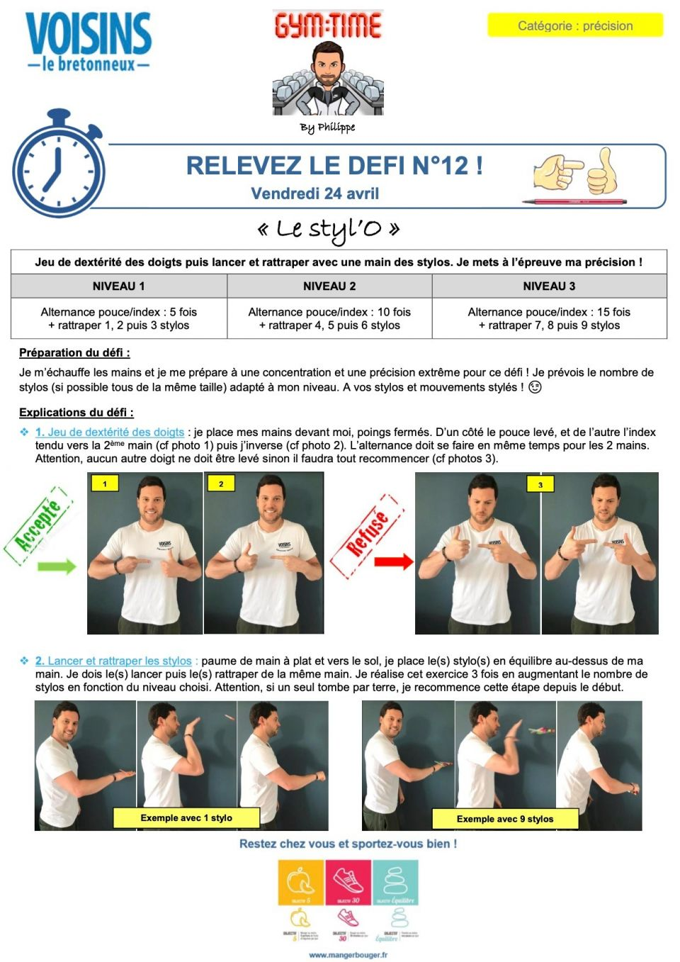 Un nouveau Défi by Philippe : le styl'o !